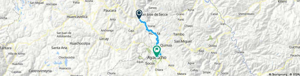 Long bike tour through Ayacucho