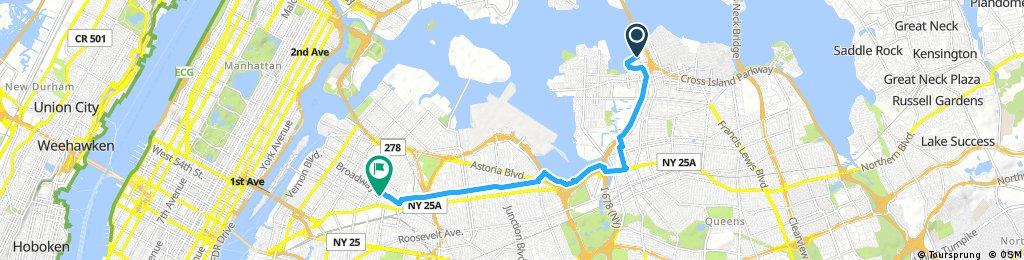 ride through New York
