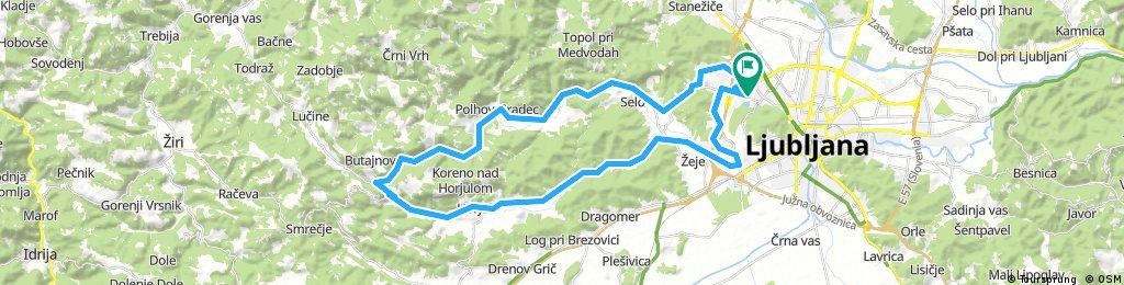 Lengthy bike tour through Ljubljana