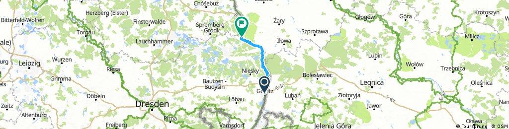 Første dag Görlitz - Leknica