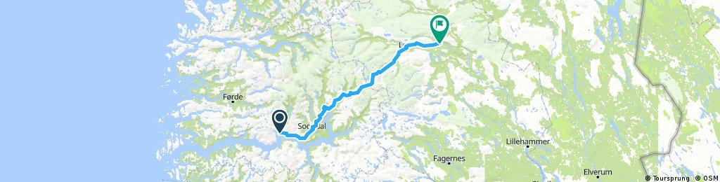 8 . Hella - Vågåmo (route options)