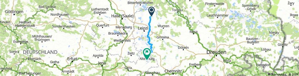 Lange Radrunde von Zschepplin nach Altenburg
