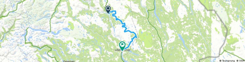 10A. Ringebu - Lillehammer (Hill/long route)