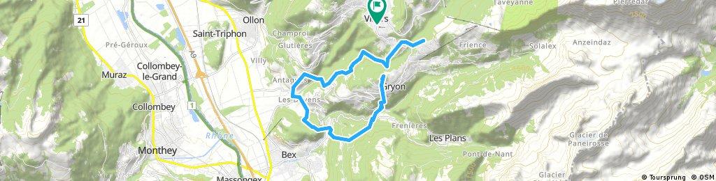 bike tour through Ollon