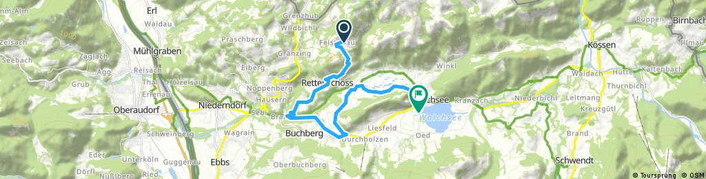 ride from Rettenschöss to Walchsee