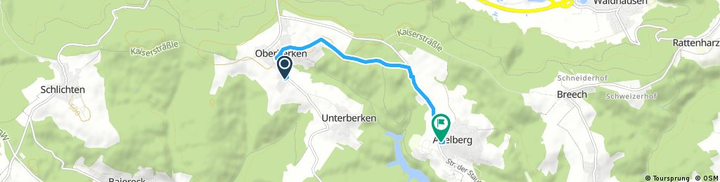 Kurze Radrunde durch Adelberg