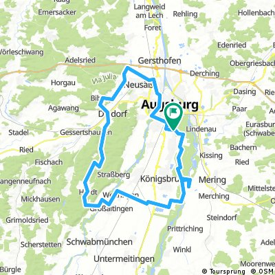 E-Bike Augsburg Oberhausen Anhauser Tal Mandicho See