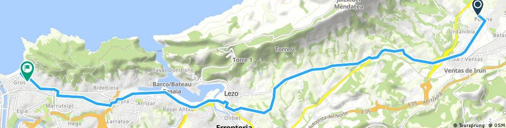 ride from Irun to San Sebastián
