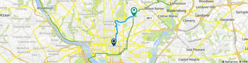Brief ride through Washington