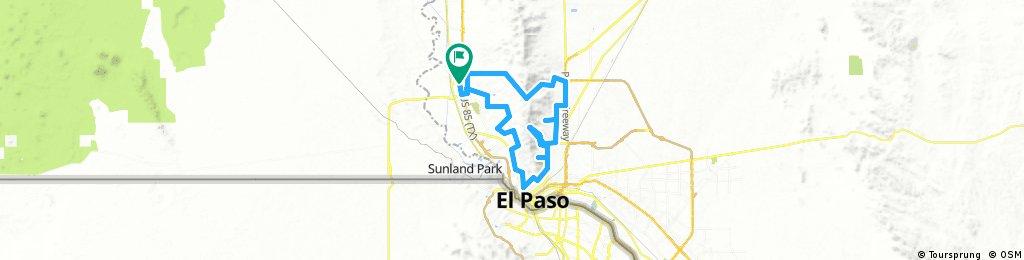 Long ride through El Paso City Limits