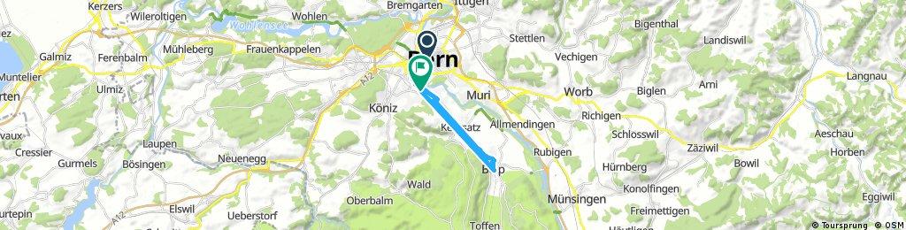 Ausfahrt von Bern nach Wabern