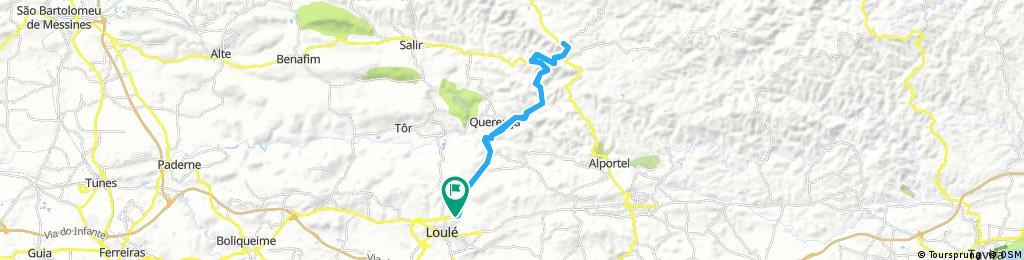 Lengthy ride through Loulé