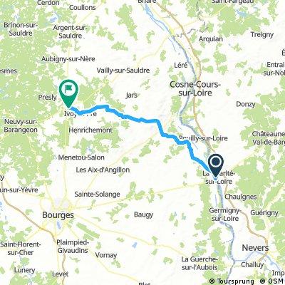 4_La Charite sur Loire - La Chapelle d'Angillon 60km