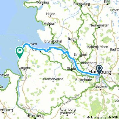 Hamburg Cux Dorum elbe