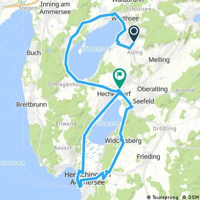 ADFC Route 12  Rund um den Woerth- und Pilsensee