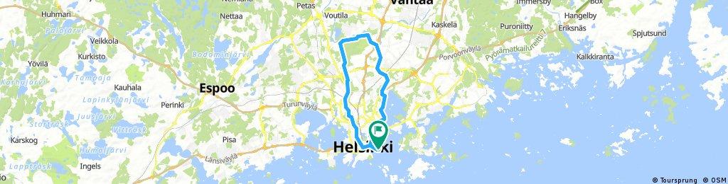 Helsinki alternative route 13.07.2017