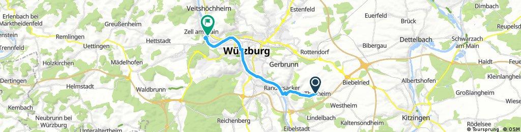 Ausfahrt durch Würzburg