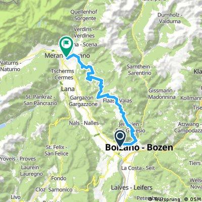 Bozen - Meran über Mölten