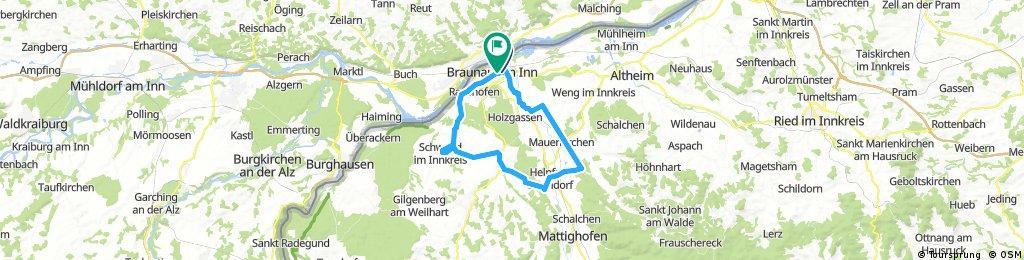 Lange Radrunde durch Braunau am Inn