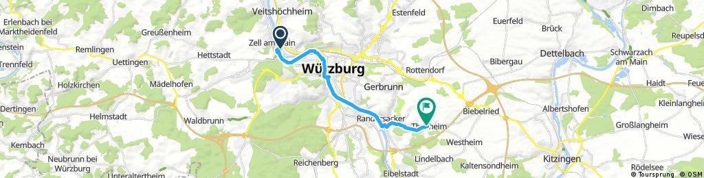 Ausfahrt durch Theilheim