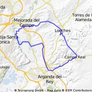 Mejorada - Loeches - Campo Real - Arganda - Mejorada