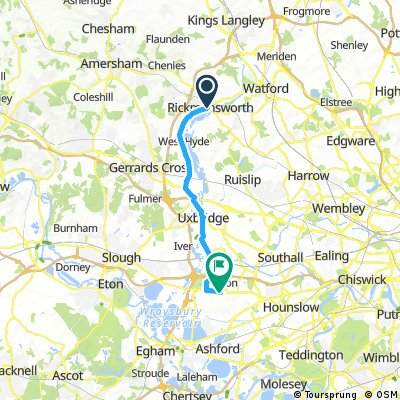 ride from Rickmansworth to (null)