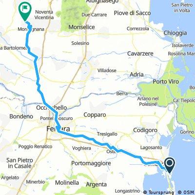 Day 39: Lido di Spina to Montagnana