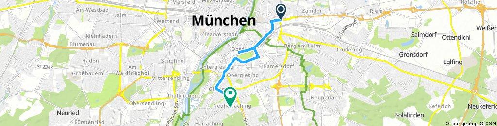 Schnelle Ausfahrt durch München
