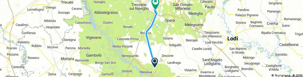 bike tour from Pavia to Assago
