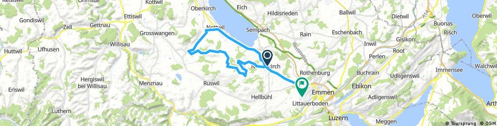 Lange Ausfahrt von Neuenkirch nach Emmenbrücke