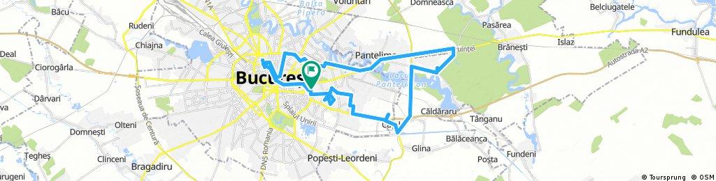Lengthy bike tour through Bucharest
