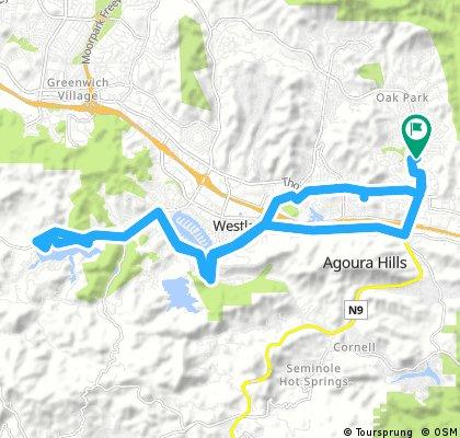 Long ride through Agoura Hills