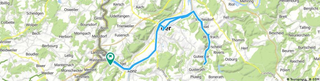 Wasserliesch - Trier - Ruwer - Gusterath Tal - Wasserliesch