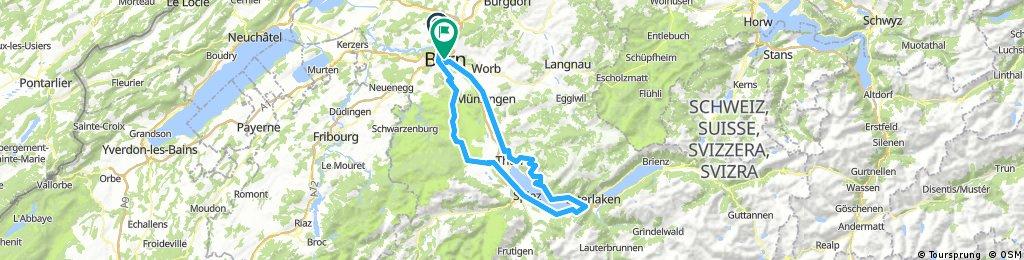 Bern-Riggisberg-Thunersee-Sigriswil-Heiligenschwendi-Thun-Bern