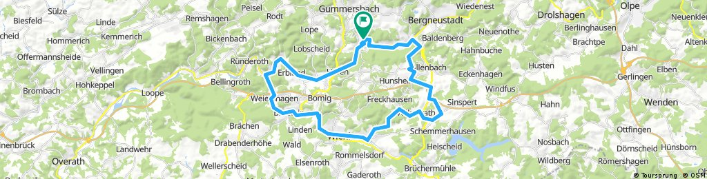 Gummersbach-Wehnrath-Wiehl und zurück