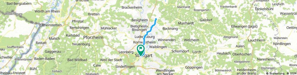 Stuttgart - Großbottwar und zurück