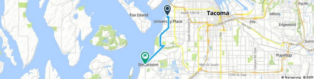 ride from Tacoma to Steilacoom