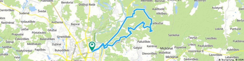 Long ride through Vilnius