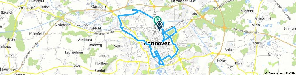 Lange Ausfahrt durch Hannover