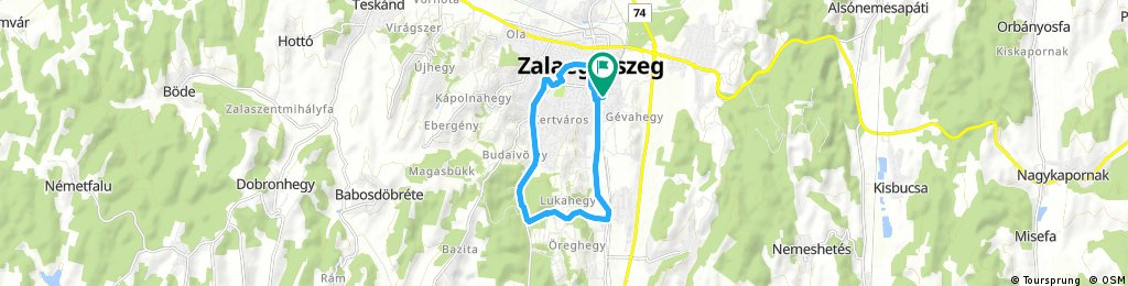 ride through Zalaegerszeg