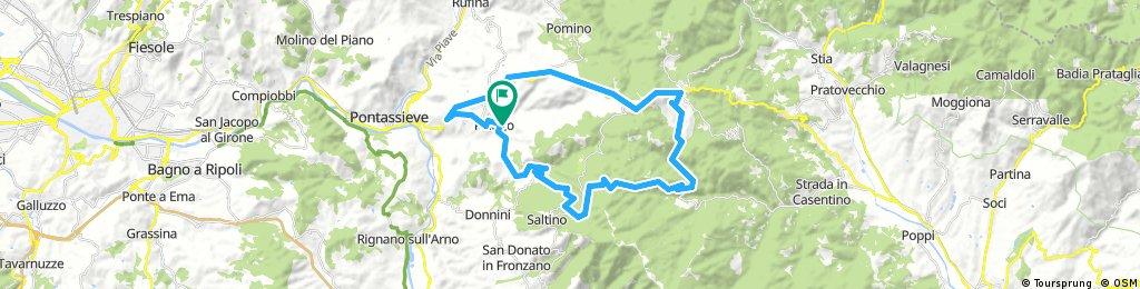 Lengthy bike tour through Pelago