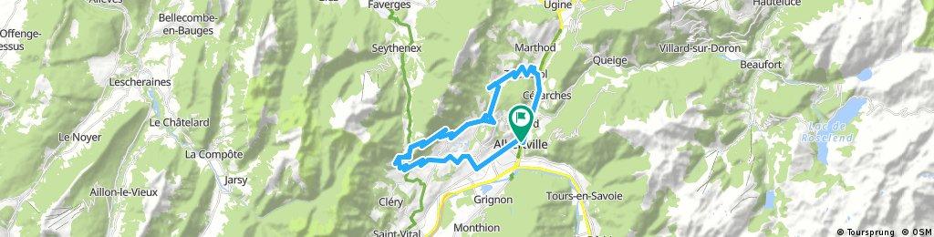 city bike tour through Albertville