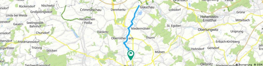 Radrunde Von Zwickau Nach Glauchau U Zurück