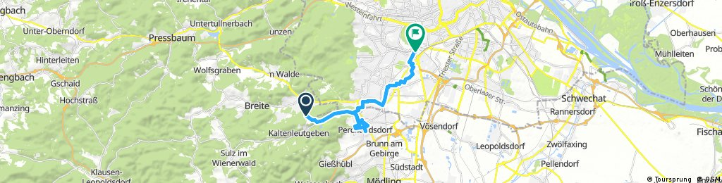 ride from Breitenfurt bei Wien to Vienna