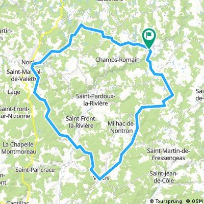 Saint Claude Lacoussière 54 KM