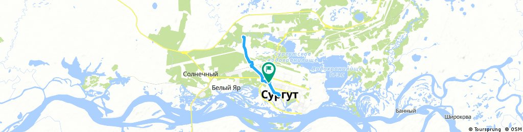ride through Сургут