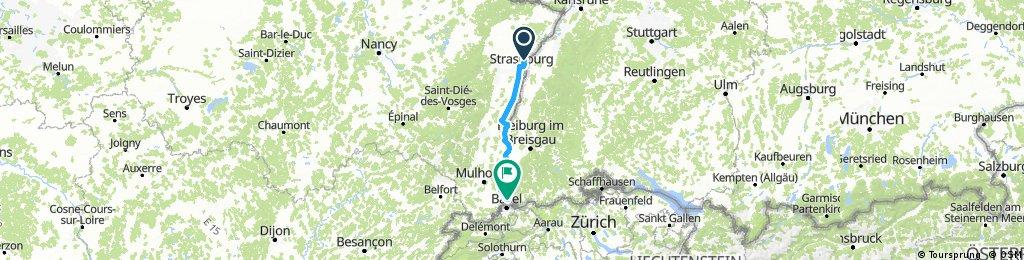 Véloroute Alsace début