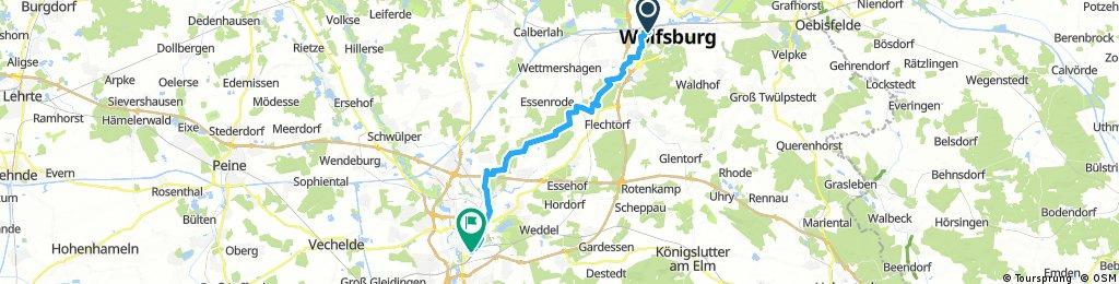 Wolfsburg - Braunshweig HBF über Wendhausen