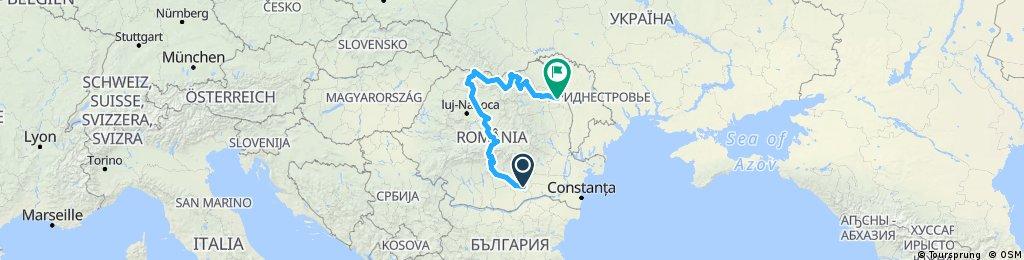 ROMANIA - Transfăgărășan - Județul Maramureș - Manastiri din Bucovina