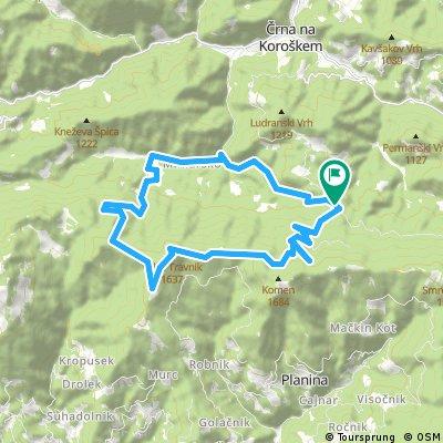 Pudgarsko-Črno jezero-Hlipovec-Veliki Travnik-Osojnik-Pudgarsko